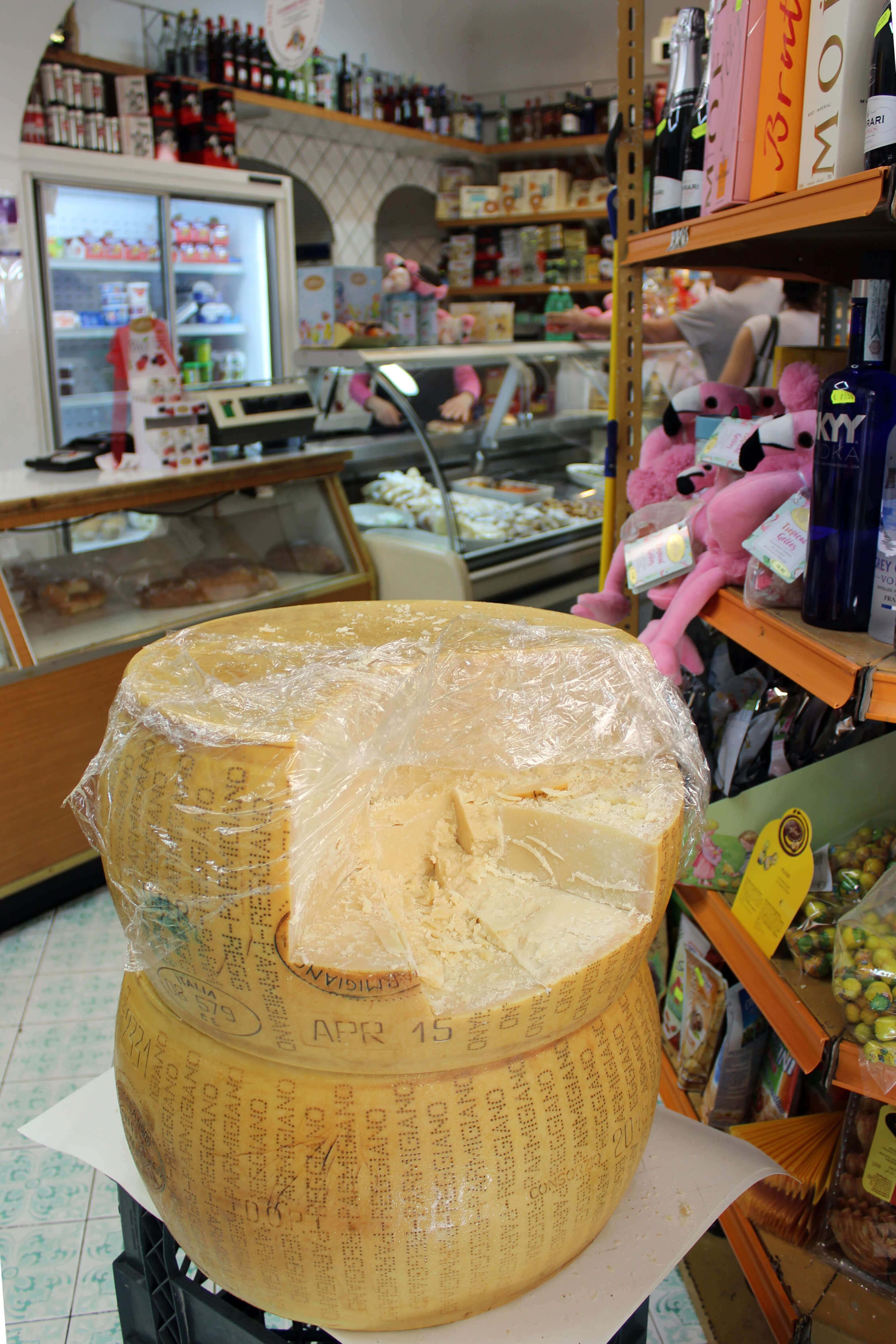 Love Affair with Positano - Cheese Wheel at Grocer