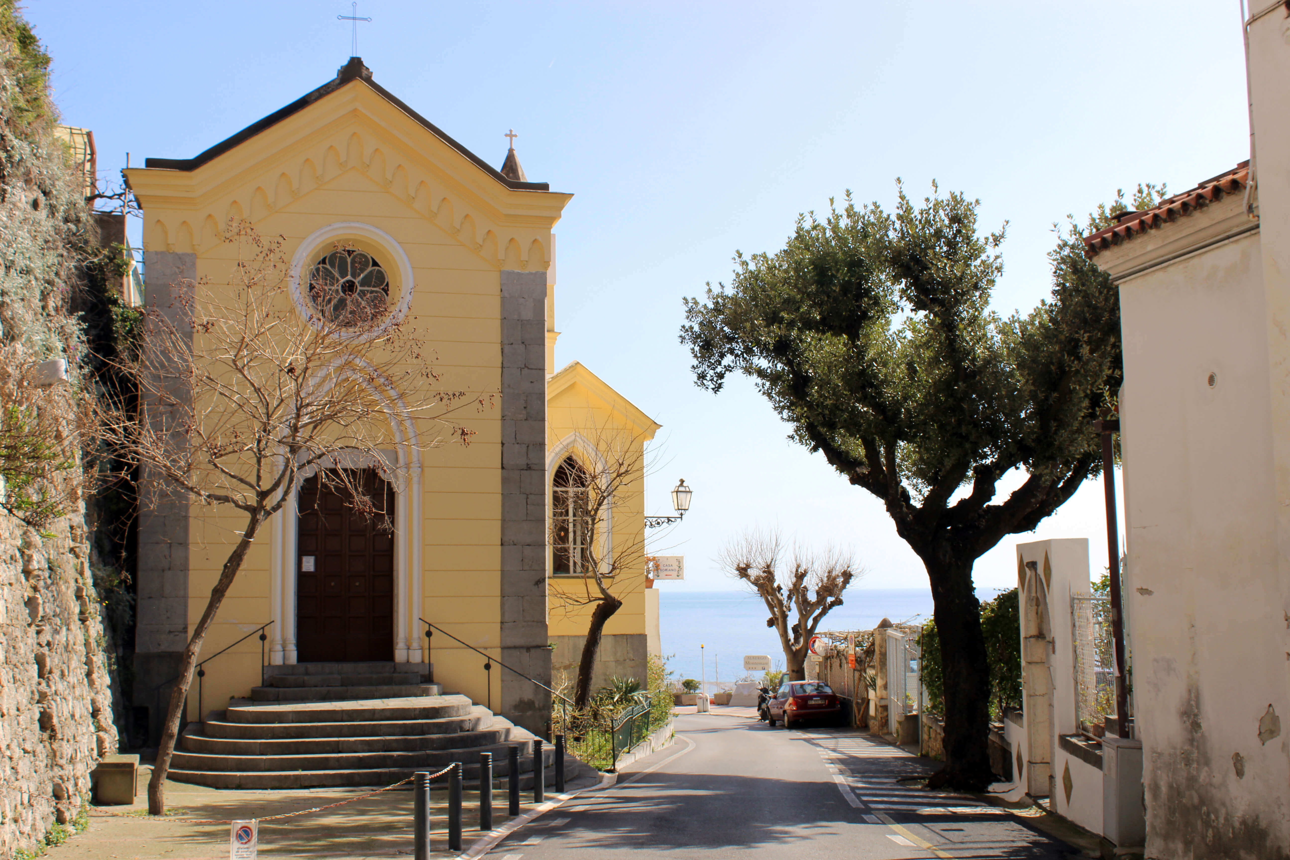 Love Affair with Positano - Church View of Street