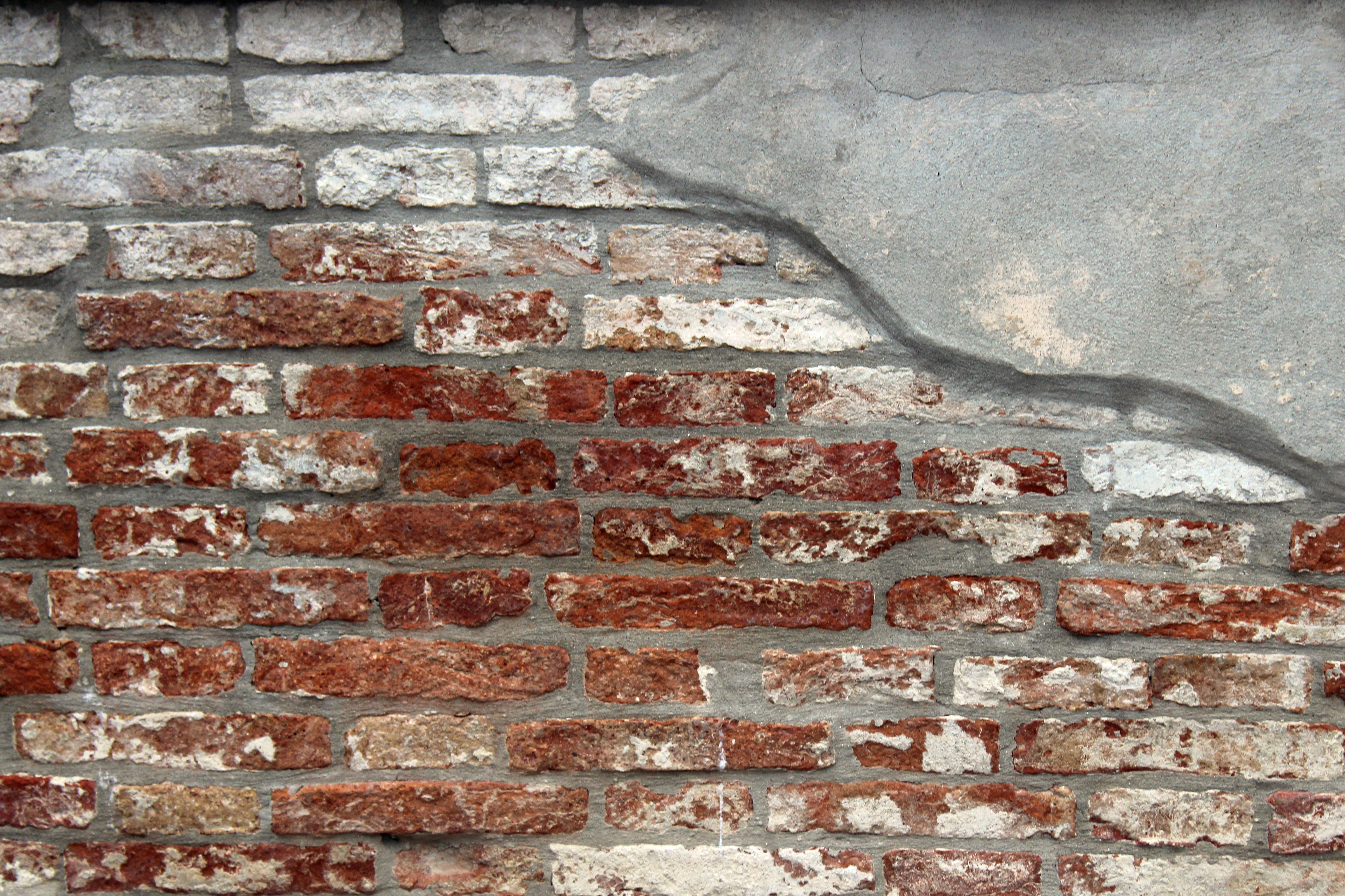 Ancient brick work in Venice Italy
