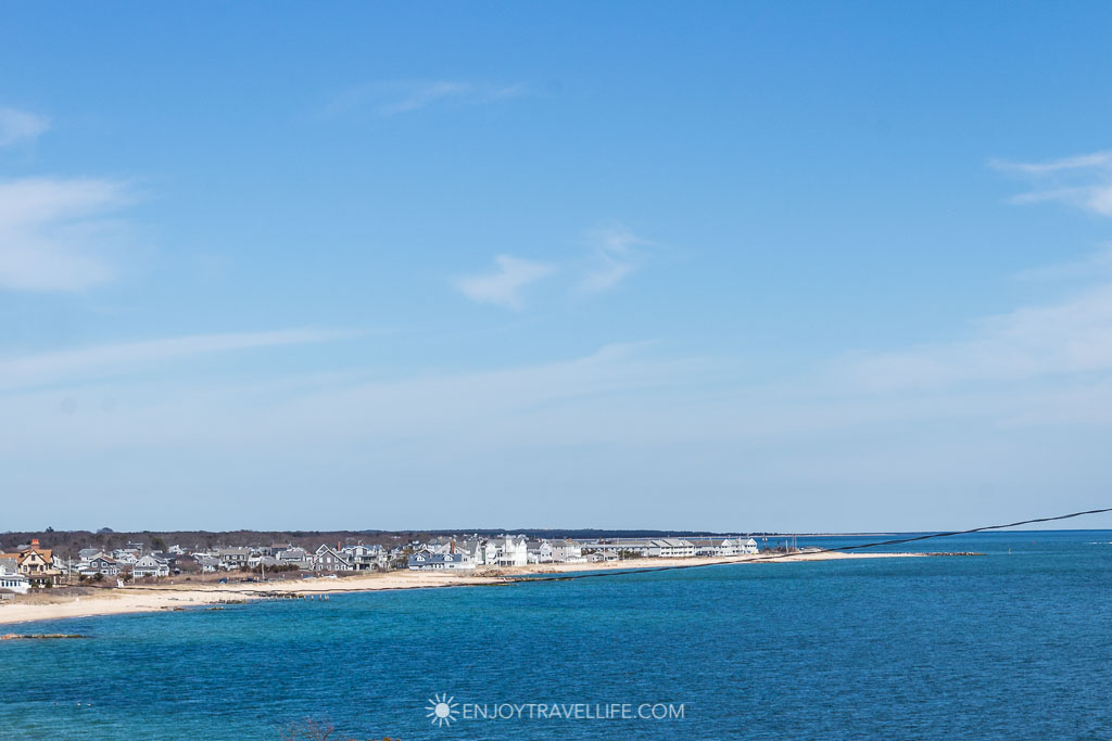 Cape Cod Massachusetts - A view of Falmouth Heights beach from Inn on the Sound