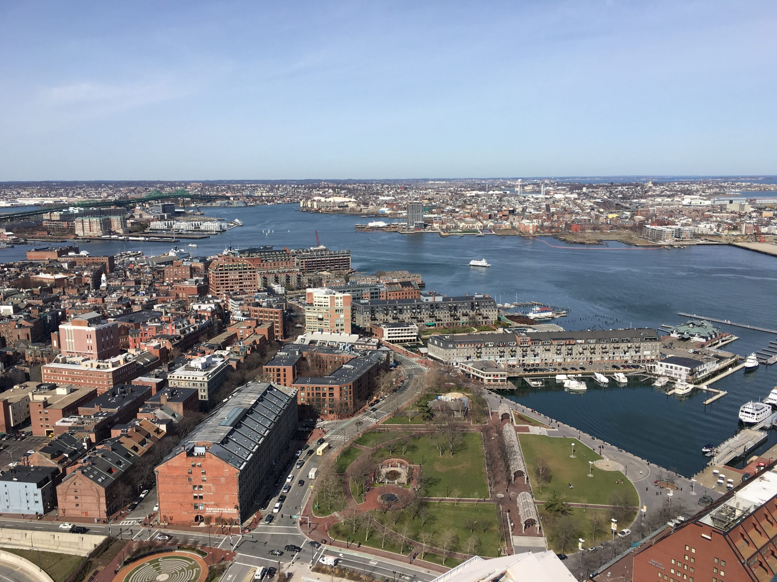 A View of The North End in Boston, Massachusetts
