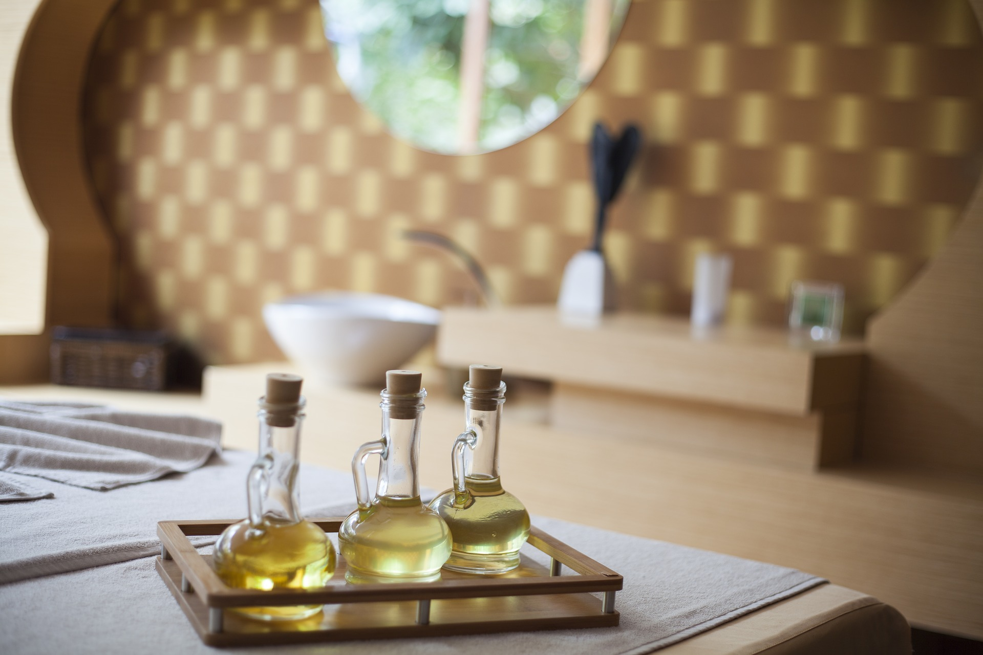massage oils at hotel spa - couples massage