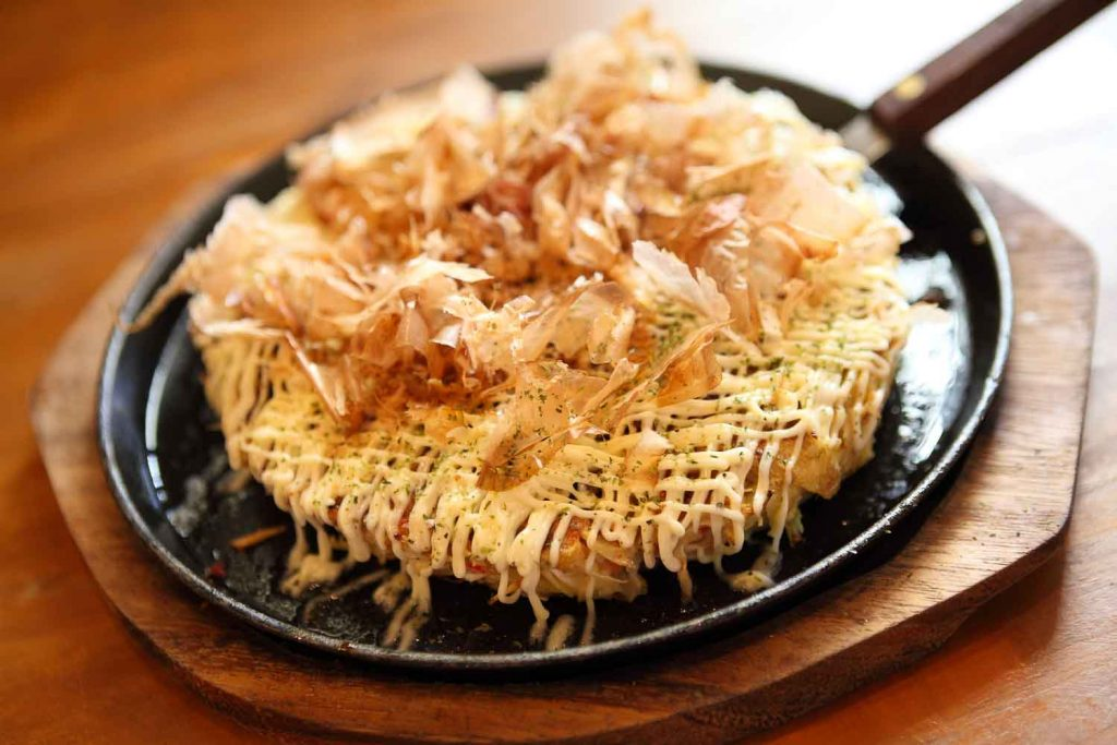 Ookonomiyaki, a culinary specialty of Japan