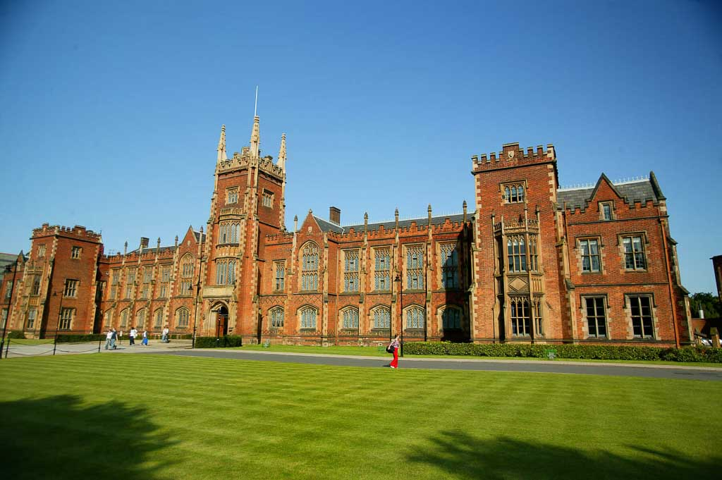 Queen's University Belfast, a stop on the Van Morrison Trail in Belfast, Northern Ireland.