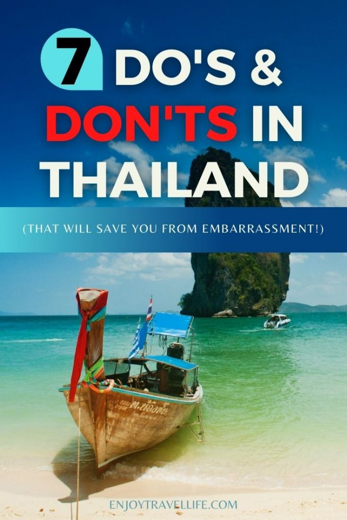 7 Do's and Don'ts In Thailand That Will Save You From Embarrassment Pinterest Pin