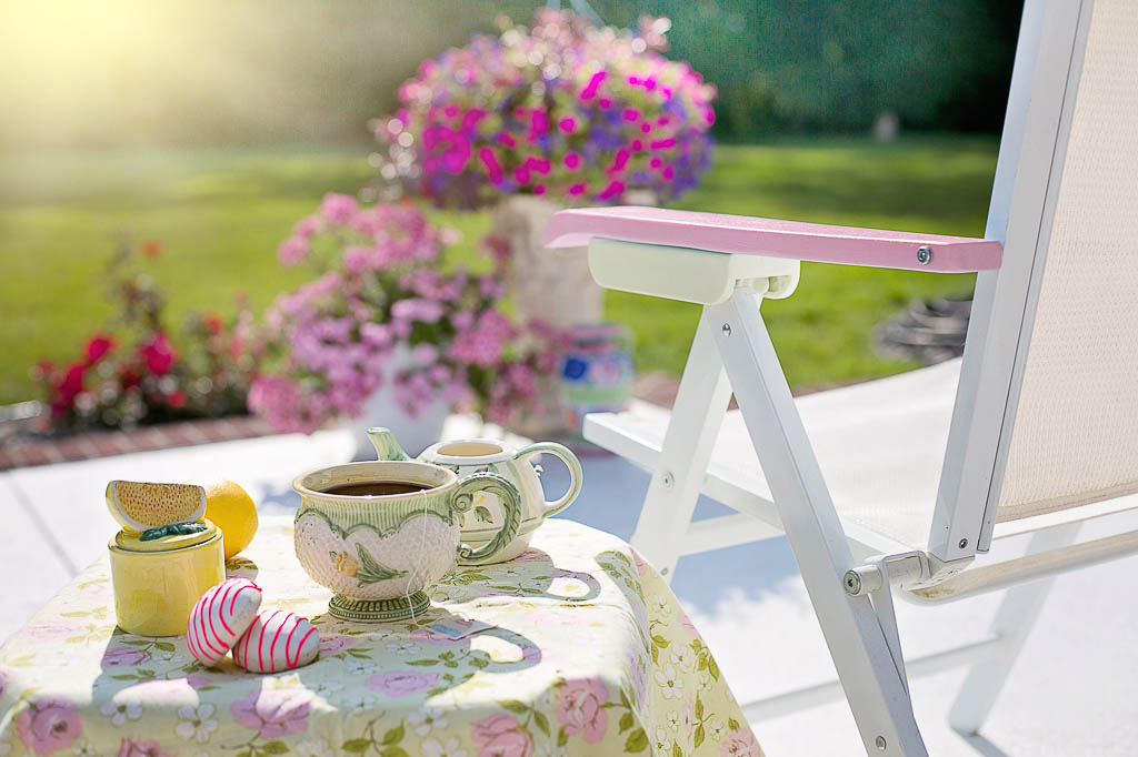 A place to have tea and cookies in the garden