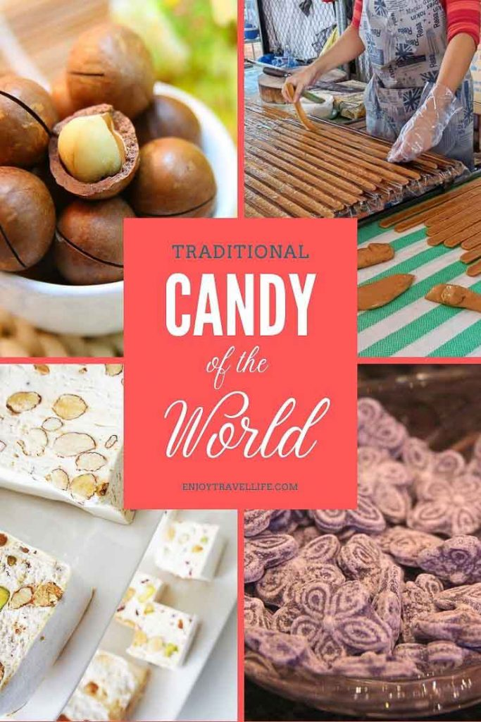 Traditional Candy of the World Pinterest Pin (save for later!)