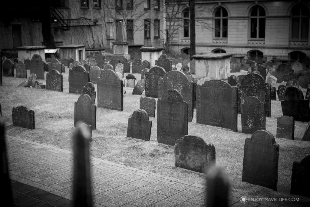 Old grave stones at Granary Burying Ground