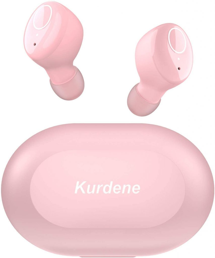 Pink Kundene wireless earbuds from Amazon, One of the perfect gifts for college girls.