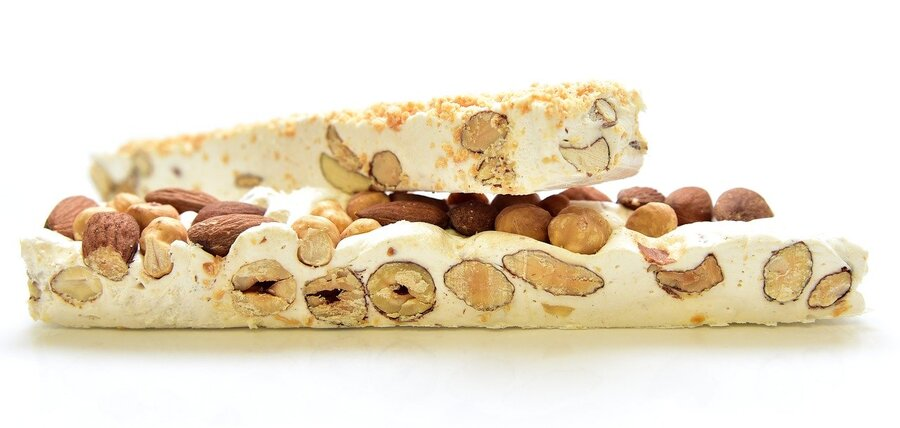 Spanish Turron, a nougat confection and candy of the world