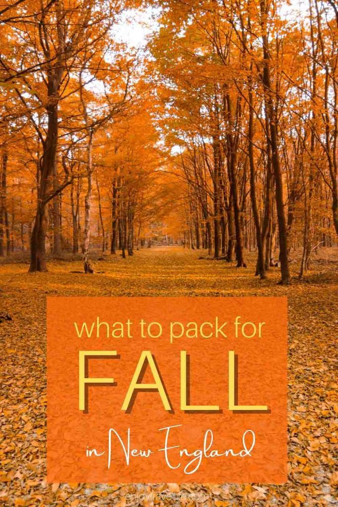 packing checklist for fall in new england / what to pack (Pinterest Pin)