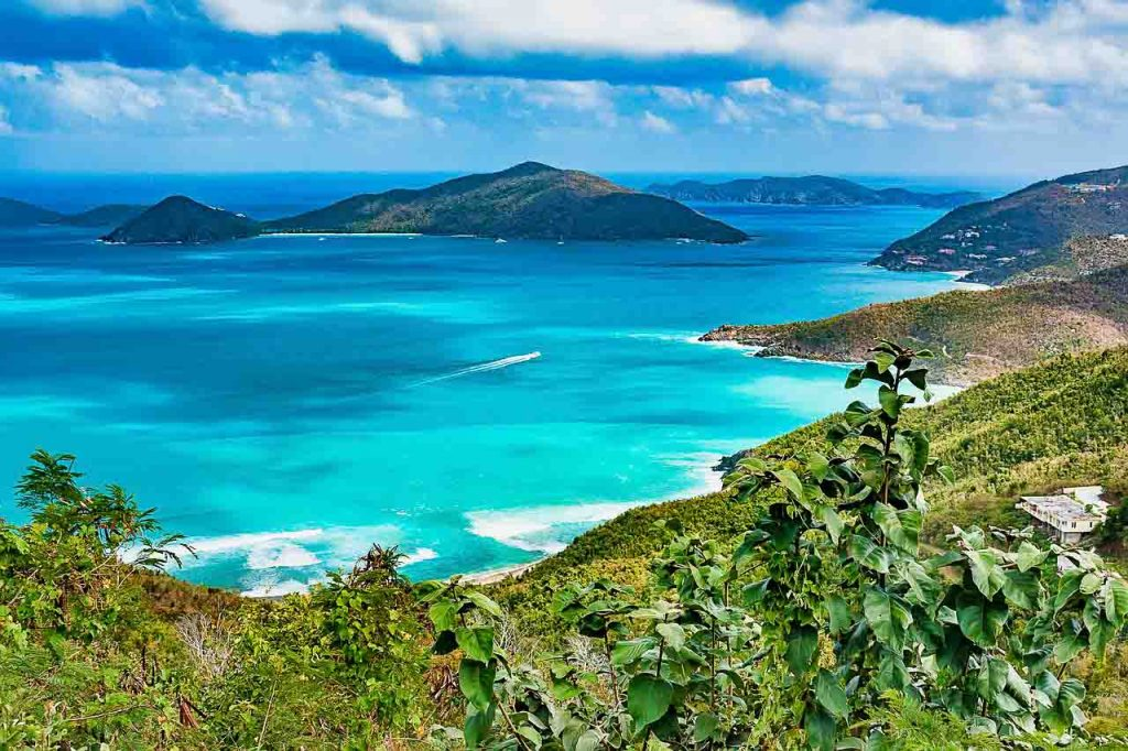 British Virgin Islands scenic overlook with lush mountains and aqua water make it a perfect candidate for long stay vacations