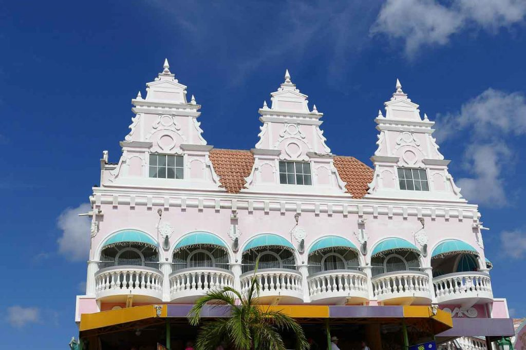 Architecture in Oranjstad, Aruba (best snowbird destinations in the Caribbean)