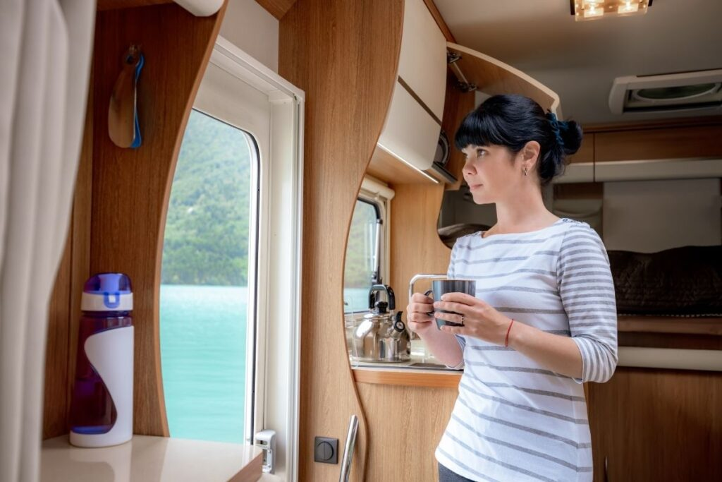 coffee in rv on the water
